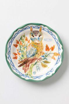 Owl Dinner Plate | Anthropologie.eu