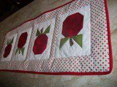 Centro de mesa patchwork artsboomer.blogspot.com.br