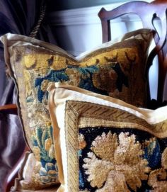 The French Tangerine: ~ antique tapestry