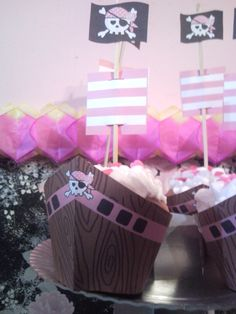 cupcakes , decoracion de princesa pirata
