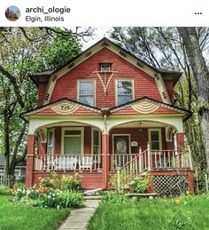 Elgin Illinois, Dutch Colonial, Historical Architecture, Victorian, Cabin, Mansions, House Styles, Instagram, Home Decor