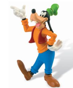Minifiguras Disney. Goofy, 9 cms Minifigura de 9 cms con el personaje Goofy gran amigo de Mickey Mouse visto en la popular serie de Disney, fabricada en pvc.