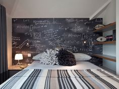 idee decor chambre enfant peinture ardoise