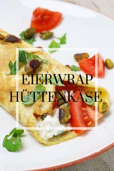 Frisse voedzame lunch met huttenkase, tomaat, basilicum en pistache nootjes Tacos, Mexican, Lunch, Ethnic Recipes, Food, Tomatoes, Eat Lunch, Essen, Meals