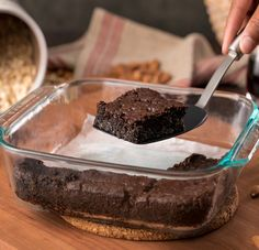 If you don't like decadently fudgy brownies, you need to stay FAR AWAY from these sinfully rich and flourless almond butter brownies! Sweet Potato Brownies Vegan, Vegan Brownie, Brownie Recipes, Vegan Desserts, Dessert Recipes, Vegan Recipes, Brownie Ingredients, Healthy Sweets, Eat Healthy