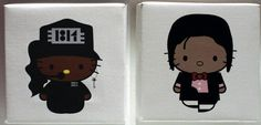 Hello Kitty As Janet and Micheal Jackson. by Plasticgod