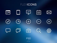 FlexIcons Free PSD, #Free, #Graphic #Design, #Icon, #Outline, #PSD, #Resource