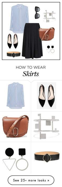"""""""How to Style a Midi Skirt: Urban Minimalist"""" by aline-voldoire on Polyvore featuring iHeart, MANGO, Gucci, 3.1 Phillip Lim, MaxMara and Isabel Marant"""