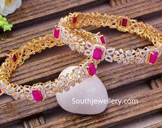 Antique Jewellery Designs, Gold Ring Designs, Gold Bangles Design, Gold Earrings Designs, Gold Bangle Bracelet, Diamond Bangle, Pearl Diamond, Diamond Jewellery, Golden Jewelry