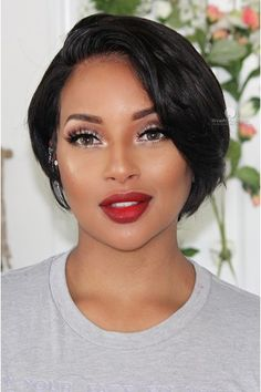 Hairstyles For Saree Short Pixie Cut Indian Human Hair Bob Wig Bobs For Thin Hair, Short Hairstyles For Thick Hair, Choppy Bob Hairstyles, Short Pixie Haircuts, Short Hair Cuts, Wig Hairstyles, Curly Hair Styles, Natural Hair Styles, Black Hairstyles
