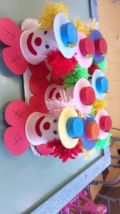 Απόκριες Clown Crafts, Circus Crafts, Winter Crafts For Kids, Summer Crafts, Art For Kids, Daycare Crafts, Toddler Crafts, Angel Crafts, School Decorations