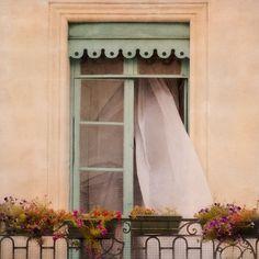 Paris Photograph Paris Balcony Window Romantic Paris Travel... ($18) ❤ liked on Polyvore