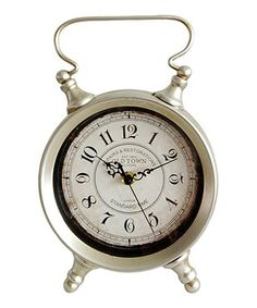 Silver Round Table Clock