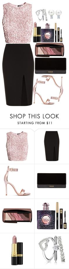 """""""Untitled #1646"""" by mihai-theodora ❤ liked on Polyvore featuring A.L.C., Gianvito Rossi, Balmain, Hourglass Cosmetics, Yves Saint Laurent and Revlon"""