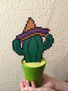 Cactus hecho con hamabeads viva mexico!!!