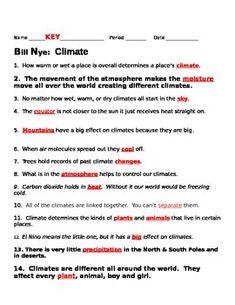 bill nye climate video guide sheet bill nye el nino and nye. Black Bedroom Furniture Sets. Home Design Ideas