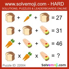 Solvemoji - Free teaching resources - Emoji math puzzle, great as a primary math starter, or to give your brain an emoji game workout. Mind Puzzles, Maths Puzzles, Fun Math, Math Games, Happy Birthday Piano, Maths Starters, Iq Puzzle, Brain Teasers Riddles, Tricky Riddles