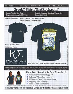 Kappa Sigma Fall Rush  http://www.greekt-shirtsthatrock.com/
