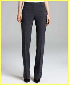 NWT $295 THEORY MAX 2 URBAN CHARCOAL GREY STRETCH WOOL TROUSERS PANTS Sz 2  #Theory #DressPants