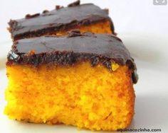 Pip - Sem Glúten - Bolo de cenoura com calda de chocolate (sem leite, ovos e soja)
