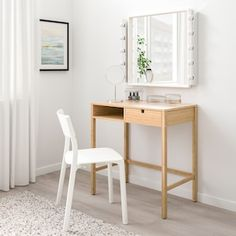 NORDKISA Dressing table, bamboo - IKEA