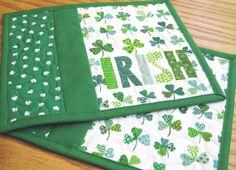 St. Patrick's Day Mug Rugs - Set of 2