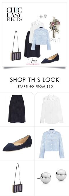 """""""Pin with Personality"""" by trufauxjewels ❤ liked on Polyvore featuring Hobé, Jaeger, Theory, Jimmy Choo, Thakoon, Balenciaga and Blue Nile"""