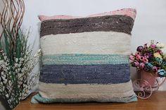 24x24 striped kilim pillow bohemian cushion kilim pillow sofa #etsy #pillow #handmade