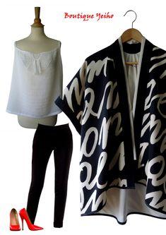 veste kimono Junko, top bretelle Ysen Créations  Boutique Yeiho