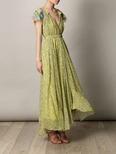 Saloni Iris Embroidered georgette gown. Dreamy!