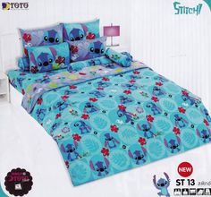 YES PLEASE!!! Lilo and Stitch Bed Fitted Sheet Set (Twin, ST13); 3 Pieces set (1 Bed Fitted Sheet, 1 Standard Pillow Case and 1 Standard Bolster Case)