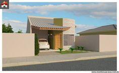 Casa - 3 Quartos - 81.45m² House Plans, Pergola, Outdoor Structures, Flooring, Outdoor Decor, Home Decor, 81, Ideas Para, Houses