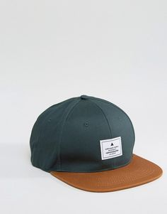 Snapback Cap In Green With Contrast Peak fffa1c63fcab