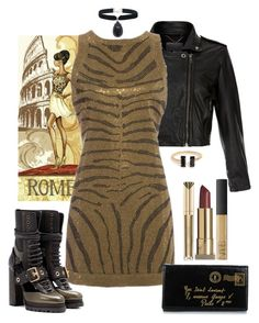 """""""Chic With An Edge"""" by loves-elephants ❤ liked on Polyvore featuring MuuBaa, Balmain, Burberry, Yves Saint Laurent, Max Factor, NARS Cosmetics, Rock 'N Rose and Kevyn Aucoin"""