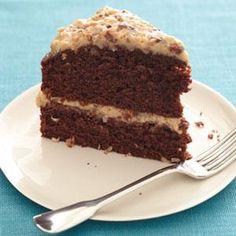 Light German Chocolate Cake Recipe   MyRecipes.com