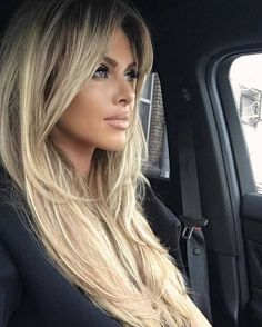 Best highlights balayage hair Rather so amandamajor com Beauté Blonde, Blonde Hair Bangs, Blonde Long Hair, Hair Up Long Hair, Summer Long Hair, Bangs Hairstyle, Long Hair Cuts, Pinterest Hair, Hair Highlights
