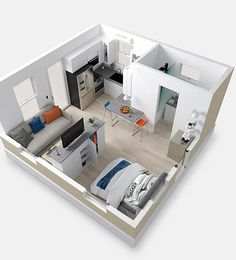 BOXABL – Affordable Accessory Dwelling Units & Granny Flats Extras and jewellery are complementary to Small Apartment Plans, Small Apartment Interior, Apartment Floor Plans, Small Apartments, Studio Apartment Layout, Studio Apartment Decorating, Small House Plans, House Floor Plans, Flat Plan