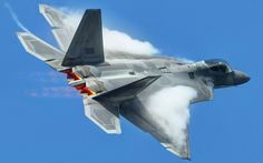 F22 Raptor In The Air Widescreen Wallpaper