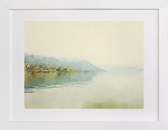 Misty lake by Helen H Wu at minted.com