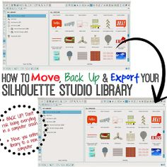Silhouette School: How to Back Up, Save, and Export Your Silhouette Studio Library Files