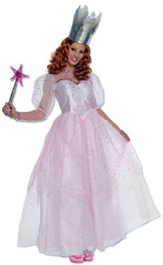 This deluxe Glinda costume is a beautiful Glinda the Good Witch costume from the Wizard of Oz movie. An elegant womenu0027s Glinda Halloween costume.  sc 1 st  Pinterest & Glinda the Good Witch (from