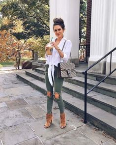 fall outfit – ripped army green skinny jeans fall outfit – ripped army green skinny jeans Fall Outfits To Try R Black Perfect Outfit Ideas Classy Fall Outfits, Fall Winter Outfits, Autumn Winter Fashion, Spring Outfits, Casual Outfits, Cute Outfits, Fashion Outfits, Fall Fashion, Fashion Ideas