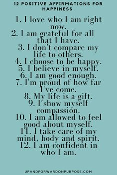 Do this one thing to be happier in your life. It's probably not what you may think. Everyone deserves to be happy. Affirmations For Happiness, Daily Positive Affirmations, Morning Affirmations, Positive Vibes, Positive Quotes, Me Quotes, Motivational Quotes, Inspirational Quotes, Inner Strength