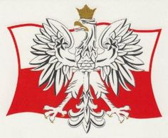 """Sticker - Polish Eagle on Flag by Polish Stickers. $3.95. Easy peel-and-stick back. Sticker measures: 4"""" x 3.4"""". Sticker in the Polish National Colors of red and white featuring the Polish national emblem of the White Eagle with the Polish flag in the background. Great for school projects, cars and scrapbooks. The sticker has an easy peel-and-stick back.  Sticker measures: 4"""" x 3.4"""""""