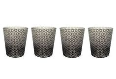 Black Etched Star Glasses, Set of 4 on OneKingsLane.com    60/120 - like these