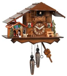 This Musical Quartz Chalet & Weatherhouse Cuckoo Clock is perfect! Red Shutters, Black Forest Germany, Wall Clock Online, Linden Wood, Extendable Dining Table, Wooden Walls, Wood Colors, Decorative Pillows, Musicals