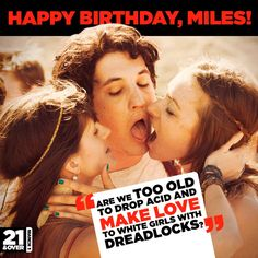 21 and over :) Funny Shit, The Funny, Funny Stuff, Miles Teller, 21 And Over, Tv Quotes, Funny Movies, White Girls, Inspire Me