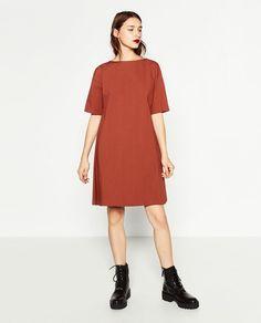 SHORT SLEEVE POPLIN DRESS-DRESSES-WOMAN | ZARA United States