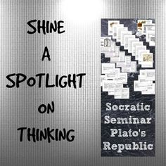 SOCRATIC SEMINAR (the Republic) $ Socratic Method, Levels Of Understanding, How To Get Followers, High School English, High School Classes, Used Computers, Reading Resources, Read News, Teaching English