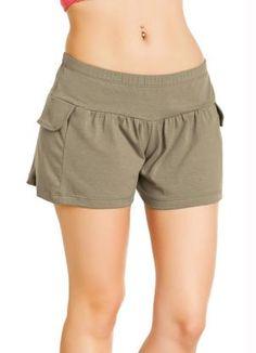 Short Caqui com Elástico na Cintura Shorts